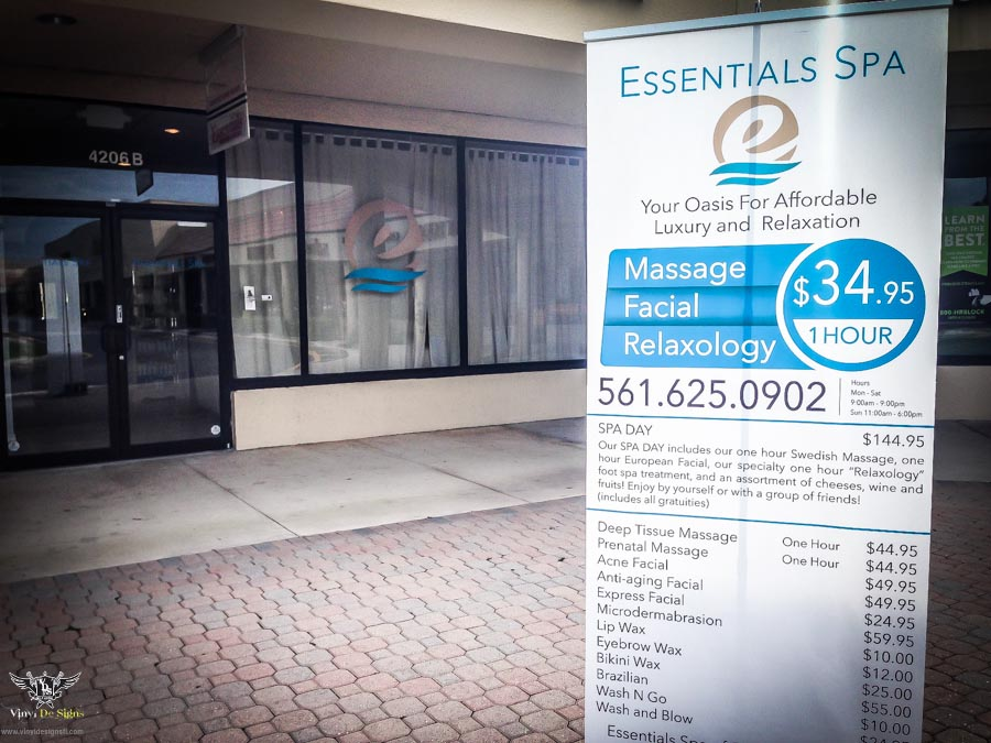 Essentials Spa Royal Palm Beach Fl Windows Graphics Install 3M Vinyl (2 Of  3)