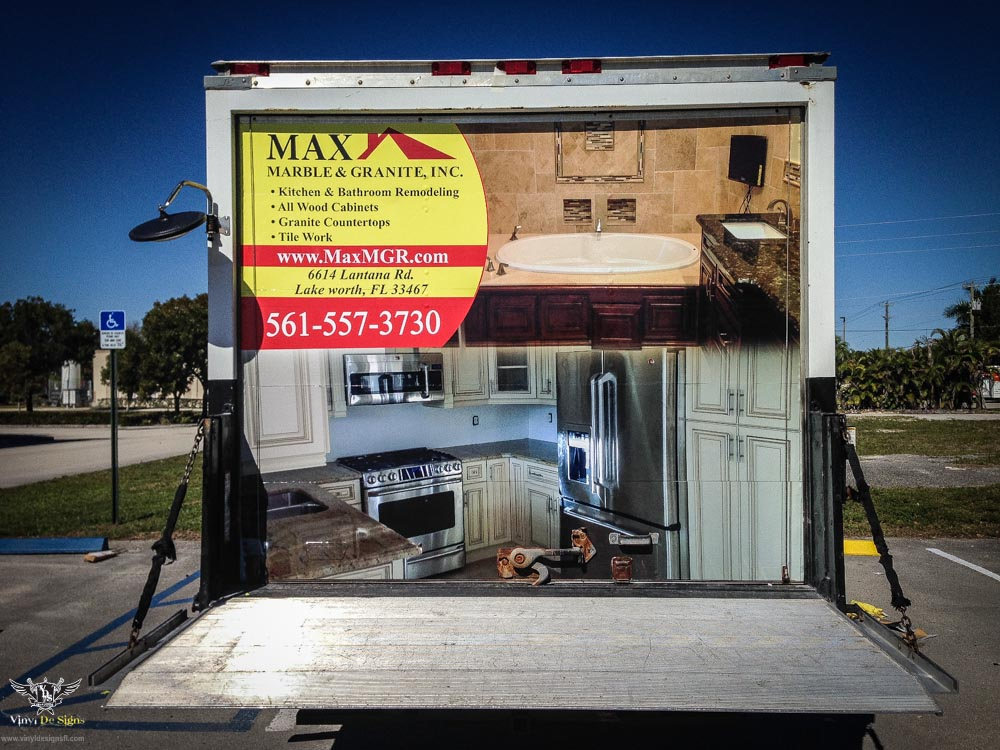 Max Marble And Granite Box Truck Vinyl Wrap Installation (5 Of 5)   Vinyl  De Signs Inc.