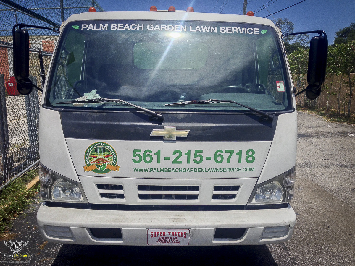 Lawn care truck lettering circuit diagram maker for Garden maintenance van