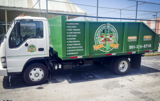 Palm Beach Garden Lawn Service Vehicle Vinyl Lettering (2 of 3)