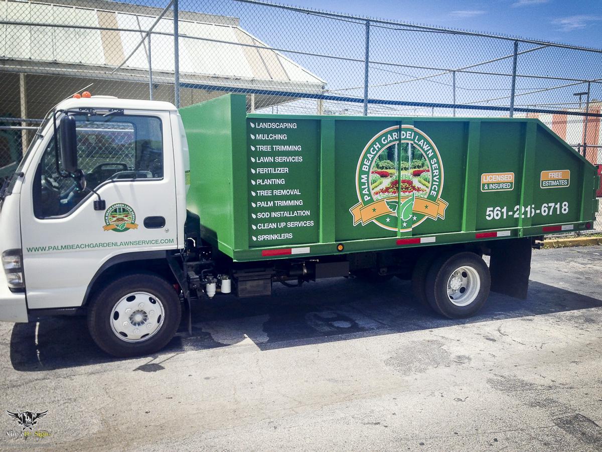 Palm Beach Gardens Lawn Maintenance Trailer and Truck Vinyl Graphics ...